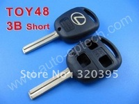 Best quality and best service Lexus remote key shell 3 button TOY48 (short) ,shenzhen