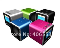 Brand New angel A08 mini mp3 speaker support TF card and U-disk,With Screen,Mix Color DHL 200pcs