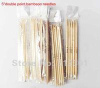 New 2014 Free Shipping 11 Sizes 5'' (13cm ) 11x5pcs Bamboo Double Pointed Knitting Needles