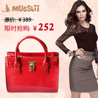 2012 autumn and winter popular women's handbag genuine leather cross-body one shoulder handbag female fashion leather bag