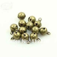 Free shipping 100 pcs 8mm copper Jingle Bell Fit Christmas Festival party DIY accessories  0120921003 (2)