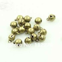 Free shipping 100 pcs 6mm copper Jingle Bell Fit Christmas Festival party DIY accessories  0120921001 (18)
