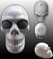 Hot  Mini skull speaker for MP3/MP4/mobile/laptop 3.5mm input CPAM free shipping