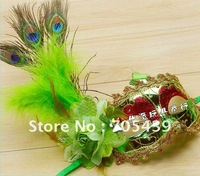 30pcs Venice mask,Fine plating bright with one-sided peacock, Halloween mask.free shipping!