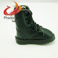 Cute Mini Great Hiking Boots / Shoes Keychain  Keys Ring Black Wonderful Team Gift Souvenir  Free Shipping