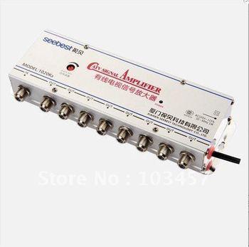 Free shipping, SB-1020K8, 8 way catv signal amplifer, Sat Cable TV Signal Amplifier Splitter Booster CATV, 20DB
