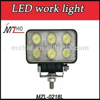 New 18W Off Road Led Work Light,10-30V Headlight Led driving Light,ATV SUV,Agricultural