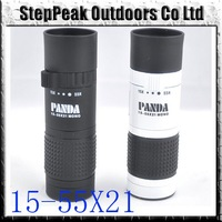 Tactical Panda15-55x21 High Visibility Sports Monocular Telescope+Holster Hunting Camping Scope(ATP-107)+Free Shipping