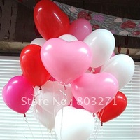 100PCS Thickening Heart 12'' Balloon, Wedding Colorized Ladex Balloon-Free Shipping