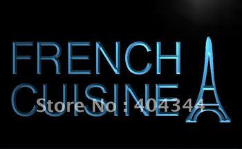 LB437- French Cuisine Cafe Restaurant Neon Light Sign   hang sign home decor shop crafts led sign