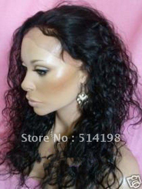Virgin Indian Human Hair Full Lace Wigs 77