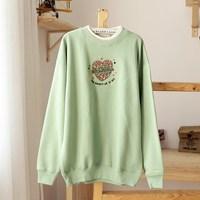 2012 autumn and winter new arrival Women lovers fleece thermal long-sleeve sweatshirt outerwear plus size 40-15w