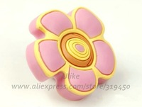 1pc Baby Nursery Dresser Drawer Knobs Sunflower Pink Yellow Girls Room / Kids Flower Cartoon Knobs / Furniture Pulls Handles DB6