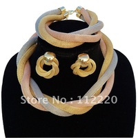Free shipping Dubai gold plated jewelry jewellery set, gold sets