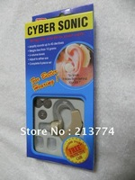 2012 hot sale CYBER SONIC hearing aid invisible hearing aid ITE heaing Sound Amplifier soft  3 ear plug 100pcs/lot