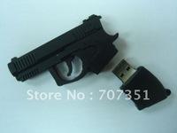 Full capacity 4g 8g 16g 32g Gun  Pistol usb 2.0 flash  drive stick pen drive & Free ship