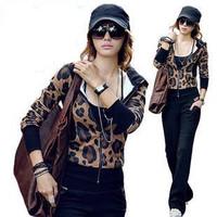 Женские толстовки и Кофты M/L Plus Size 2pcs Tracksuits Women's Leisure Letter Print Fleece Hoodies+Pants Sport Suits F1576