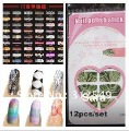 Free shipping 20x 12pcs/set 122designs available New Trendy Nail Polish strips supper thin Nail polish wrap