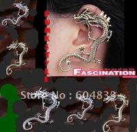 New Alchemy Gothic Dragons Lure Cuff Pewter Earring,dragon form Earring,Worldwide free shipping    GGG6