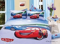 New Beautiful 3PC 100% Cotton Comforter Duvet Doona Cover Sets Twin / Queen Size baby bedding set 3pcs car