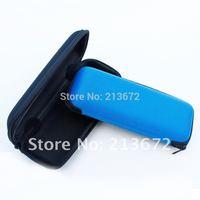 Free Shipping-Zipper Hard Black eyeglasses Retail Box High Quality Glasses Pouch Bag Eyewear Box-2pcs/lot-retail-black&blue