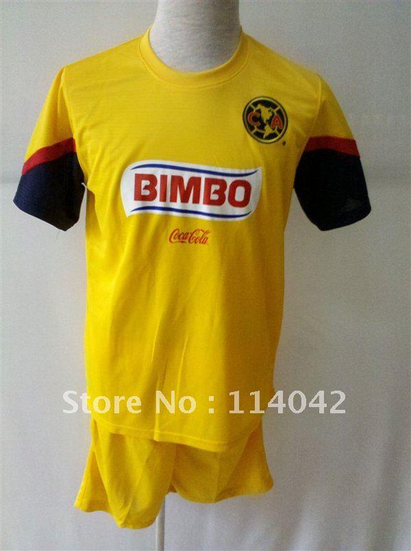 Free shipping! Mexico's club America 12/13 Home and Away Soccer Jersey original logo football kits soccer uniforms(China (Mainland))