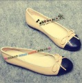 2012 soft sheepskin shallow mouth ol bow foot wrapping single shoes ballet shoes flat