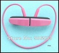 New 2GB Silicone rubber Waterproof W252 Headset Sport mini Mp3 Player Fashion Headphone in original box Free Shipping