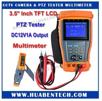 "3.5"" inch CCTV Tester with Multimeter  TFT-LCD Monitor Camera Video Test / PTZ UTP RS485 Audio 12V Output HB-T100"