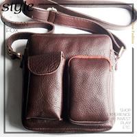 Handmade leather satchel one shoulder cross-body male leather bag handmade genuine leather bag