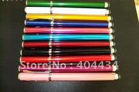 beatiful sensitive  capacitive stylus touch pen & writing ink pen hot sale free shipping 300pcs/lot