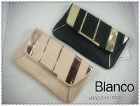 Fashion blanco double colorant match fashion black powder candy color envelope bag shoulder bag