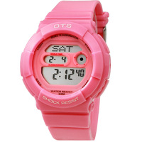 Free Shipping Electronic watch male digital watch waterproof sports pink jelly table Women