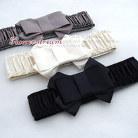Colored satin cummerbund belt waist decoration
