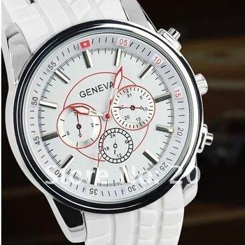 Best seller Geneva 6 colors Silicone watch men women students sportsl wrist quartz Watch 2012488