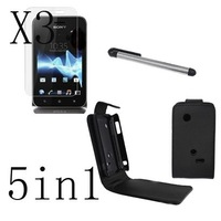 5in1 Leather Case Cover Pen For  Sony Xperia Tipo ST21i