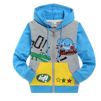 New arrival Free shipping 6 pcs/lot 2012 spring and autumn children clothes cartoon kids hoodies/boys sweatshirts/hoody