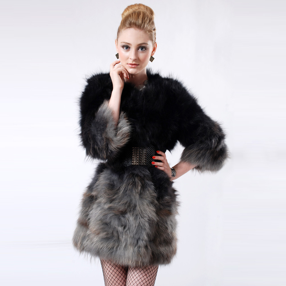2017 Wholesale Hot Fashion New High Grade Hooded Fur CoatNoble