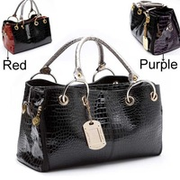 Сумка через плечо HOT, Bohemian style Circus Print, Ladies' Hobo PU leather handbag shoulder bag square shape B017