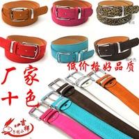 Leopard print women's pin buckle strap male strap female multicolour belt candy lovers