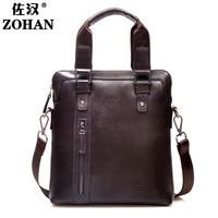 Man bag commercial handbag one shoulder casual cowhide messenger bag briefcase