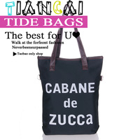 2012 fashionable casual bag star style letter canvas bag shoulder bag messenger bag black female bags