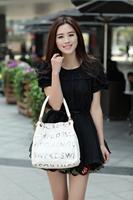 2014 New Arrival Top Grade PU Leather woman's fashion messenger bag/Handbag/Shoulder bag 1pc free shipping