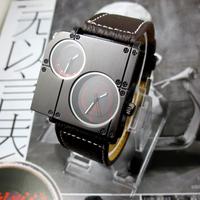 Oulm au lait male quartz watch cool large dial personalized watches watch vintage table
