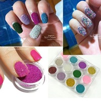 Free shipping Caviar Beads for caviar manicure nail polish, fashion nail decoration items 12 COLORS