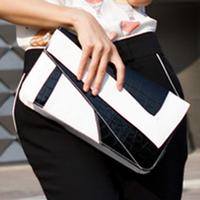 2012 autumn women's handbag serpentine pattern color block clutch day clutch envelope bag messenger bag vintage small bags