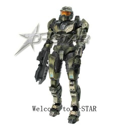Free Shipping Halo Master Chief Action Figure Toy(China (Mainland))