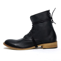 - neserv - 2012 winter fashion male boots high fashion genuine leather boots