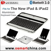 FedEx / DHL Free Shipping (30 pieces/lot) Aluminium bluetooth keyboard case for iPad (Black key)