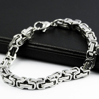 Wholesale and retail fashion titanium steel adorn article will never fade gentleman coarse bracelet personality gift T008